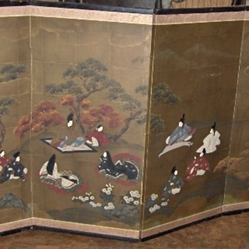 "4 Panel Japanese Folding Screen ""Byobu"""