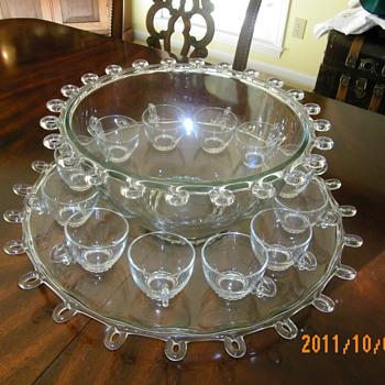 Heisey Lariat Punch Bowl - Glassware