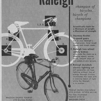 1950 Raleigh Bicycles Advertisements