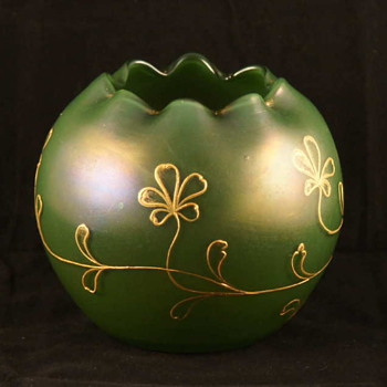 Loetz Russian Green Dek I /107 Rosebowl  - Art Glass