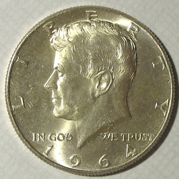 1964 Kennedy Half Dollar; Uncirculated