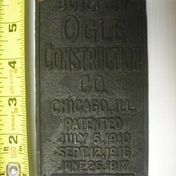 Brass Ogle Equipment tag  - Railroadiana