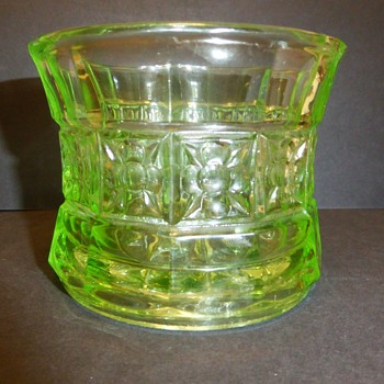 Uranium Glass - Vase, bowl, toothpick holder? - Glassware