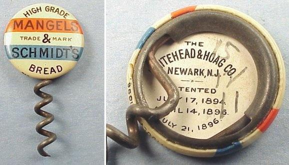 Whitehead Amp Hoag Celluloid Button W Corkscrew