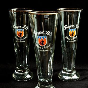 verres à bieres, Brasserie Freysz, vers 1950 - beer glasses breweryFreysz, circa 1950