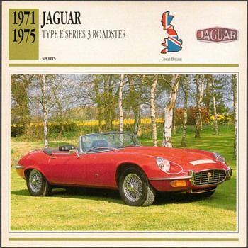 Vintage Car Card - Jaguar Type E Roadster