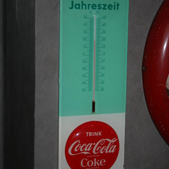 coca cola thermometer - Signs