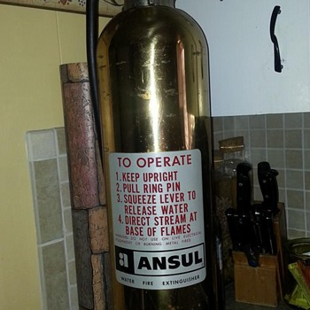 Ansul Brass Fire Extinguisher