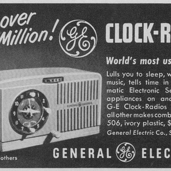 1950 - General Electric Model 506 Radio Advertisement - Advertising