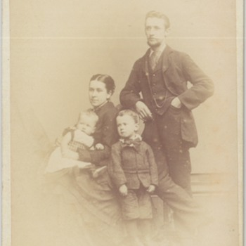 Family CDV from Cardiff, Wales, United Kingdom