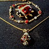 Lady Bug.... Lady Bug.... Fly A Way Home !/ Pin, Pendant, and Bracelet / Circa 20th Century