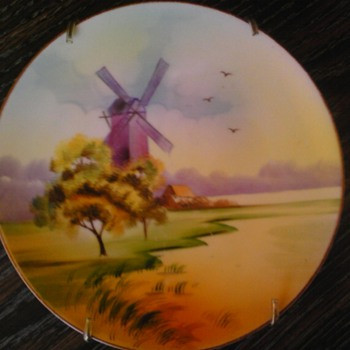 hand painted windmill - Asian