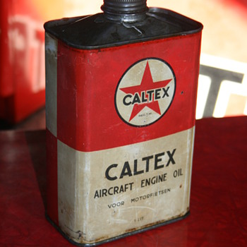caltex oil can - Petroliana