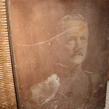 Original Copper Photographic Plate mounted on wood, photogravure? - Photographs