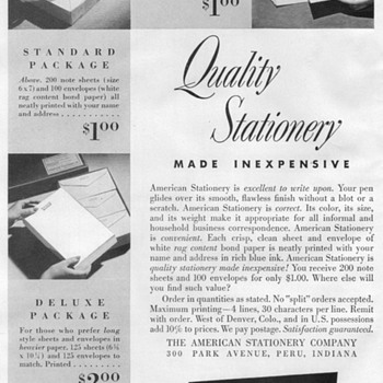 1948 - American Stationary Advertisement