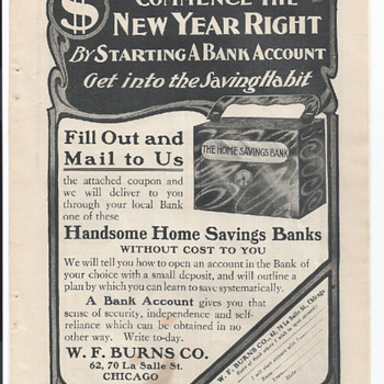 "Advertising""HOME SAVING BANK""W.F.Burns Company,Chicago"