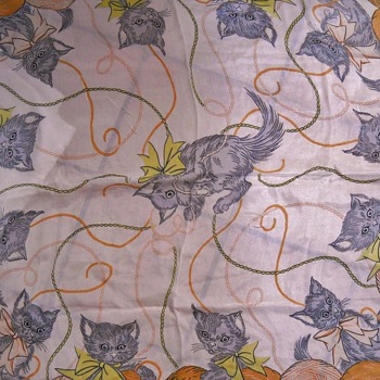 Vintage 40's - 50's Cat Scarf - Accessories