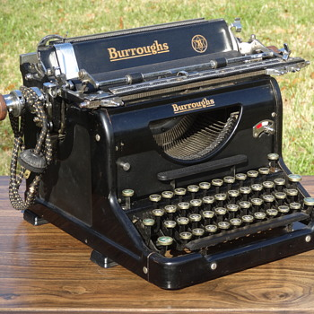 1932 Burroughs Electric Carriage Typewriter - Office
