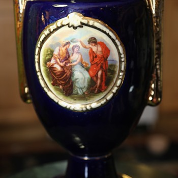 Tall Fancy Vase - Sevres-style? - Art Pottery