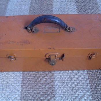 Orange tool box.