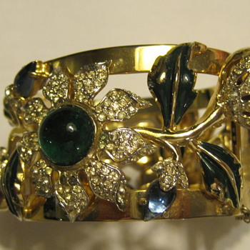 coro cuff bracelet - Costume Jewelry