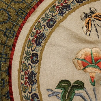 Embroidered Silk Rondel from China