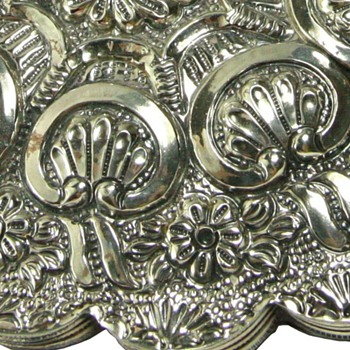 Turkish Coin 900 Silver Mirror Repousse Style