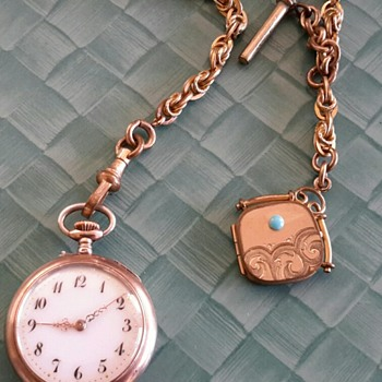 My Little Pocket Watch & Fob Locket