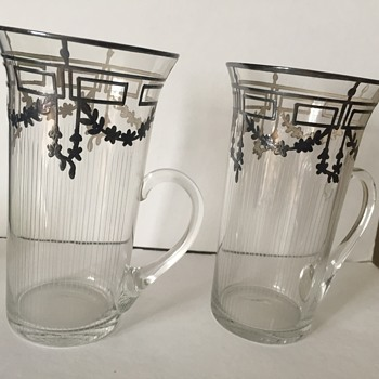 Art Deco Silver ice tea glasses? - Glassware