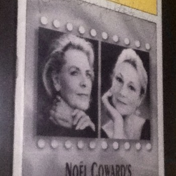 Signed Lauren Bacall & Rosemary Harris Playbill