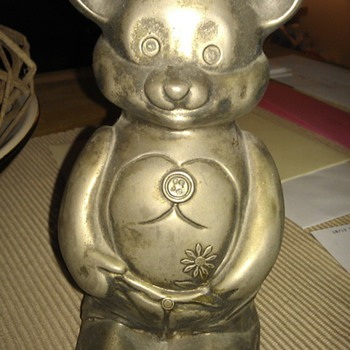 Metal Bear Piggy Bank