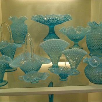 Fenton Blue Hobnail collection