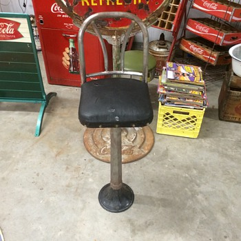 Soda fountain/drugstore stool.