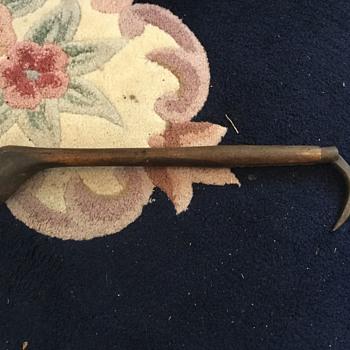 Mahogany pulling hook - Tools and Hardware