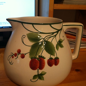 Vintage Villeroy  & Boch Strawberry Pitcher