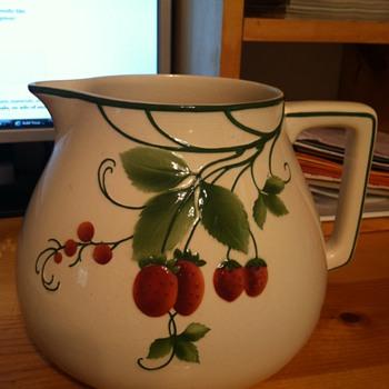Vintage Villeroy  & Boch Strawberry Pitcher