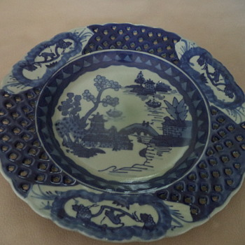 """New"" Flow Blue Display Plate? - China and Dinnerware"