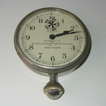 Waltham New England Telephone Clock - Clocks