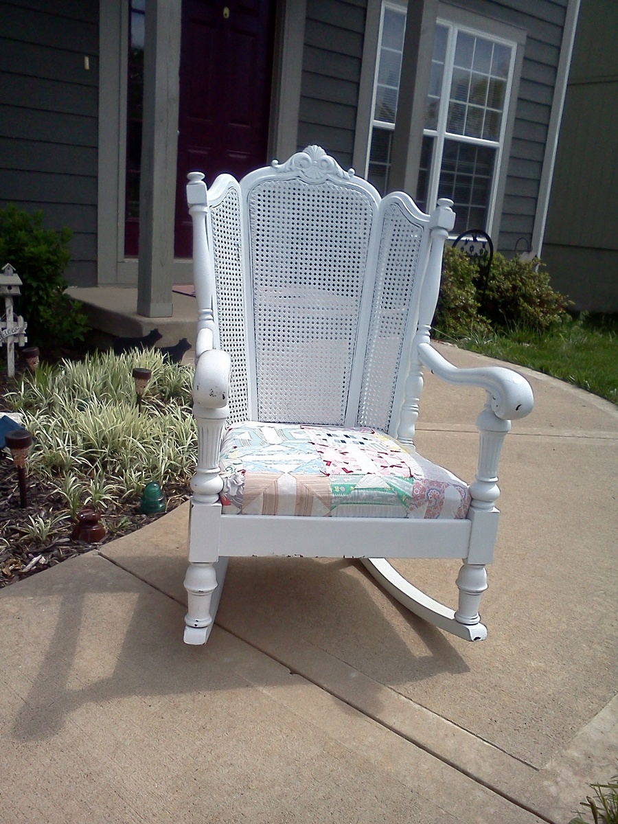 Antique cane rocking chairs - 4
