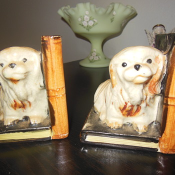 Vintage Made in Japan ceramic bookend - Animals