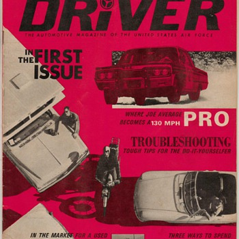 USAF Driver Magazine - June 1967 * First Issue - Paper