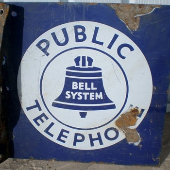 Bell System Public Telephone Sign