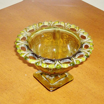 Green Glass Dish