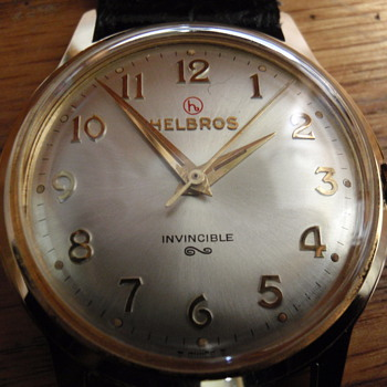 1960 Helbros 17 Jewel embossed logo watch
