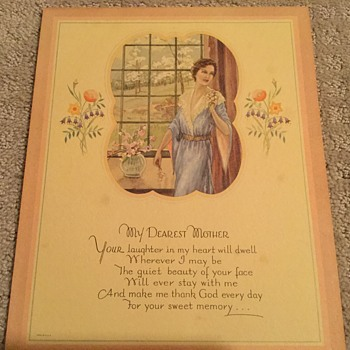 Mother's Day Print ( hidden for 90 years.)