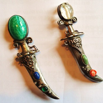 sterling silver broaches swords!  by Walter Lampl!  An UPDATE on mine - Sterling Silver