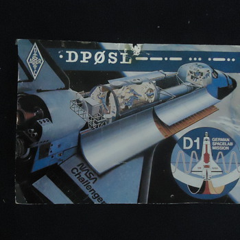 RARE NASA Q.S.L CARD FROM THE CHALLENGER - Cards