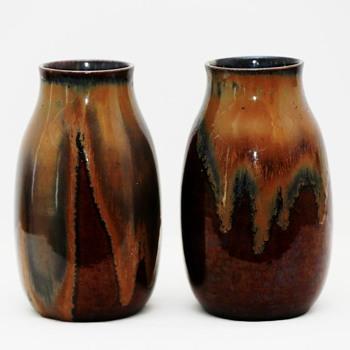 Two Large Vases, probably Bürgeler Kunstkeramische Werkstätte (Germany), ca. 1920