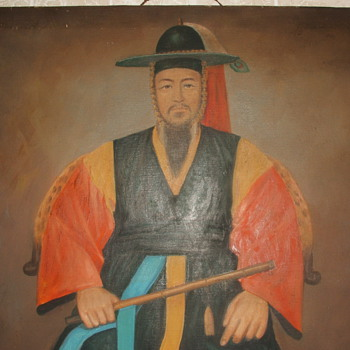 Is this a Chinese, or Japanese painting?...Need help identifying if anyone can help!.Thank you!