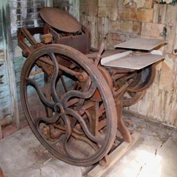 old printing press .. what is it?